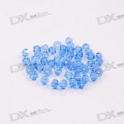 Austria Ornamental DIY Crystal Beads Blue (50-Pack)