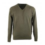 Suitable Pullover V-Hals Armee Grün - Grün XL