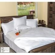 Спално бельо памучен сатен - Бял