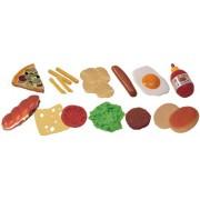 Miniland 30585 - fast food 19 pezzi / bag
