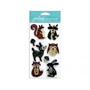 NEW! Jolee's Boutique Dimensional Stickers-Woodland Felt Animals