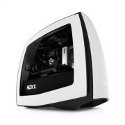 NZXT CASE MANTA, MINI-ITX, 2 SLOT DI ESPANSIONE, USB3.0, DRIVE BAYS DA 3,5/2,5, 3X200MM FAN (2 FRONT/1 REAR) INCLUDED, MATTE WHITE/BLACK /WITH WINDOW