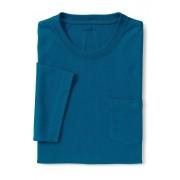 ランズエンド LANDS' END メンズ・スーパーT/ポケット付き/半袖/Tシャツ(ブライトシーティール)
