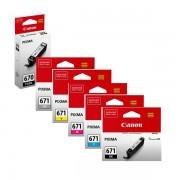 6 Pack Genuine Canon PGI-670, CLI-671 Ink Combo [1BK,1PBK,1C,1M,1Y,1GY]