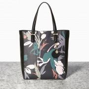 Stylová kabelka Nica černá s květinami