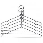 Les cintres HAY (ensemble de 5 cintres), en aluminium anodisé noir. Sobres, déco et design