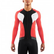 Skins Cycle Men's Tremola Due Long Sleeve Jersey - Black/White/Red - M