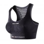 X-Bionic Energizer Sports Bra Women Black/Pearl Grey L/XL-A Laufunterwäsche