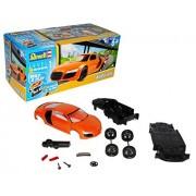 Audi R8 Naranja Construye 'n' Play 06111 Bausatz Kit 1/24 Revell Modell Auto mit oder ohne individiuellem Wunschkennzeichen - Mit Wunschkennzeichen
