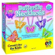 Create 6 beautiful butterfly necklaces-Layer acetate and chipboard butterflies onto soft felt-Slide them onto multi-str