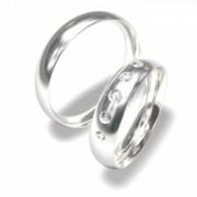 Luxusní Ocelové snubní prsteny 0140202054