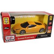 Maisto Tech - Ferrari 458 Italia, coche con radiocontrol, color amarillo (81058-1)