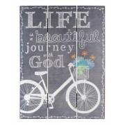 Home Decor Mdf Chalk Print Life Is a Beautiful Journey 12 X 16