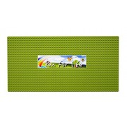 """APPLE GREEN Plastic Brick Building Base Plate, Large 15""""x 7.5"""" Baseplate LEGO Compatible By Brand FUN FOR LIFE"""