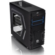 Thermaltake, Versa H23 USB 3.0 Midi Mesh Tower Case ODD Bays with Side Window (Blue)