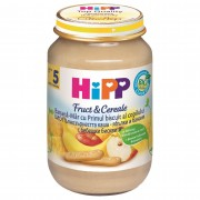 HIPP - Gustare cu Fruct&Cereale, Mar, Banana si Biscuiti, 190 g, 4+ luni
