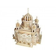 G-P247 Cathedral Of Christ The Saviour 3D Diy Wooden Puzzles Children'S Educational Toys Feature Spot Model For Kids And Adults