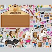Mona Melisa Designs Mona Melisa Designs Interactive Wall Play Set, Horse Friends Playset