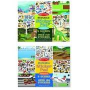 Melissa & Doug Vehicles and Habitats Reusable Bundle Sticker Pad