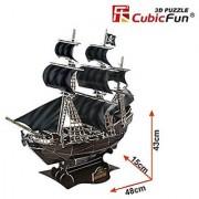 Queen Annes Revenge 155 Piece 3D Jigsaw Puzzle Made by CubicFun 3D Puzzle