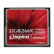 Kingston 32 Gb 266X Ultimate 2 Compact Flash Card Cf/32Gb-U2