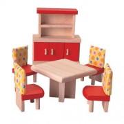 Drewniane mebelki dla lalek Jadalnia Neo - mebelki do domku dla lalek, Plan Toys