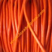 Cuero naranja de 2mm de calidad superior (precio por 50 cm)
