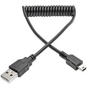Tripp Lite 3 ft. Hi-Speed USB 2.0 to USB Mini-B Cable (M/M) Coiled USB Type-A to Mini-B (U030-003-COIL)