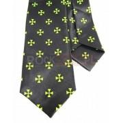 Krawat czarny - CHOPPERS CROSS (K-26)