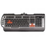 Tastatura gaming USB A4TECH 3x Fast, Black (G800V), wired cu 104 taste si 15 taste multimedia, 1 click pentru a schimba 5 moduri, Full Speed 1000Hz si rezistenta la apa