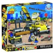 COBI Action Town Construction Crane and Forklift 330 Piece Set