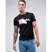 Diesel T-Diego-QA Logo T-Shirt - 900 (Sizes: M, XL)