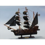 """Blackbeards Queen Annes Revenge 20"""" Wood Pirate Ship Model Pirates Of The Caribbean Pirate Ship Decor Wood Pirate Ship Model Nautical Decoration Model Ship Sold Fully Assembled Not A Model Ship Kit"""