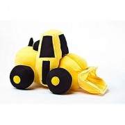 Constructive Eating large Fun Unique Front Loader Plush It is a soft stuffed construction vehicle.