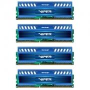 Memorie Patriot Viper 3 Sapphire Blue 32GB (4x8GB) DDR3 1866MHz 1.5V CL10 Quad Channel Kit, PV332G186C0QKBL