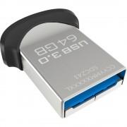 USB DRIVE, 64GB, Sandisk Ultra Fit, USB 3.0, Black (CZ43-064G-GAM46)