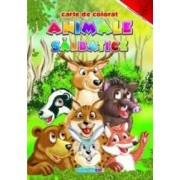 Animale salbatice - Carte de colorat