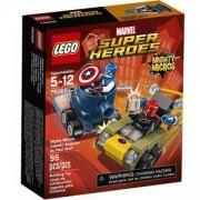 Конструктор Лего Супер Хироус - Могъщите микро: Капитан Америка срещу Червения череп - LEGO DC Comics Super Heroes, 76065