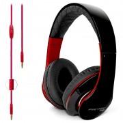 Auscultadores Estéreo On Ear Fantec SHP-3 - Preto / Vermelho