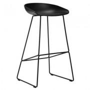 About a Stool 38 barstol h65, svart/svart