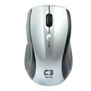 Mouse Óptico sem Fio C3 Tech 2.4GHz M-W012 Prata