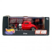 Hot Wheels Collectibles - '32 Ford (Red) - Hot Rod - Series 1 - Hot Rod Magazine - 1:43 Scale - Mounted in Display Case by Hot Wheels
