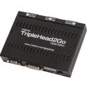 Външна видеокарта Matrox T2G D3D IF за едновременна работа на 3 монитора с DVI вход, MATROX-T2G-D3D-IF