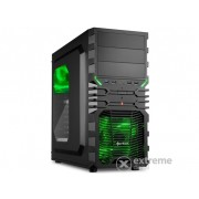 Carcasă PC Sharkoon VG4-W Green, interior negru/verde