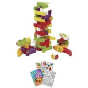 Hape E1008 Stacking Veggie Game with Coloring Book