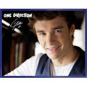 Mini Poster Encadré: One Direction - Midnight Memories, Liam (40x50 Cm), Cadre Plastique, Bleu