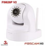 Foscam FI9826P V2 (Plug n Play) Wireless N - 1.3 MegaPixel HD cu zoom optic 3x - alb