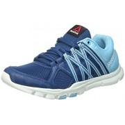 Reebok Yourflex Trainette 8.0, Zapatillas de Gimnasia para Mujer, Azul (Noble Blue / Crisp Blue / Opal / Wildblue)