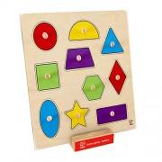 Hape Home - Education Geometric Shapes Knob Puzzle Puzzle