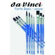 Ecset - Da Vinci Forte Basic - szintetikus, erős, kerek, hegyes - KÜLÖNBÖZŐ MÉRETEKBEN!